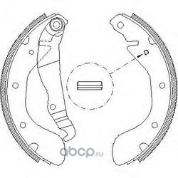 Комплект тормозных колодок (Remsa) 430700