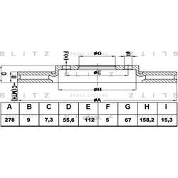 Диск тормозной TEXTAR (Blitz) BS0431