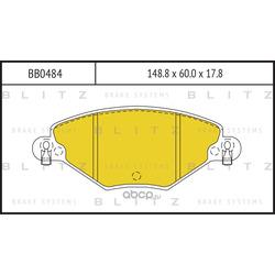 Колодки тормозные, комплект, передние (Blitz) BB0484