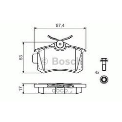 Комплект тормозных колодок (Bosch) 0986494517
