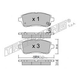 Комплект тормозных колодок, дисковый тормоз (Trusting) 8090