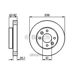 Диск тормозной передний Bosch Nissan (Bosch) 0986478276