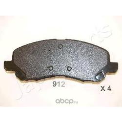 Комплект тормозных колодок, дисковый тормоз (Japanparts) PA912AF