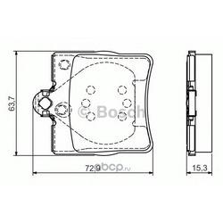 Комплект тормозных колодок (Bosch) 0986495080