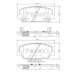 Комплект тормозных колодок, дисковый тормоз (Nipparts) N3600547