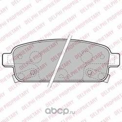 Колодки тормозные дисковые, комплект (Delphi) LP2167