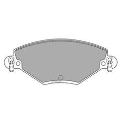Комплект тормозных колодок, дисковый тормоз (FREMAX) FBP1191