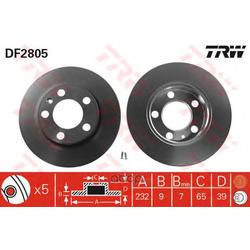 Диск тормозной (TRW/Lucas) DF2805