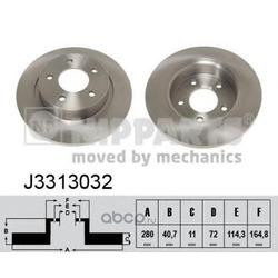 Тормозной диск (Nipparts) J3313032