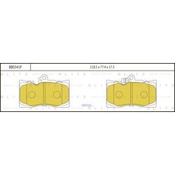 Колодки тормозные дисковые (Blitz) BB0341P