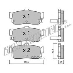 Комплект тормозных колодок, дисковый тормоз (Trusting) 2001