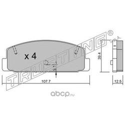 Комплект тормозных колодок, дисковый тормоз (Trusting) 3112