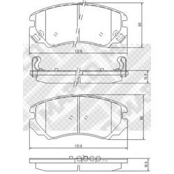 Комплект тормозных колодок, дисковый тормоз (Mapco) 6735
