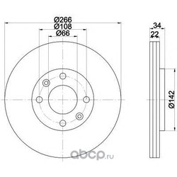 Тормозной диск (Mintex) MDC1491