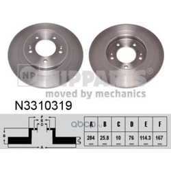 Тормозной диск (Nipparts) N3310319