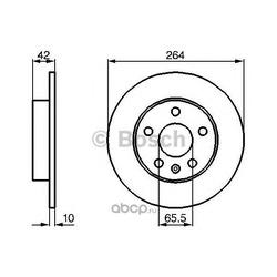 Тормозной диск (Bosch) 0986478884
