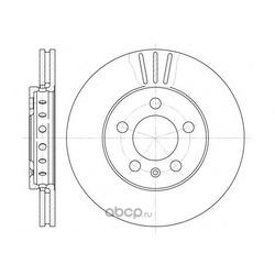 Тормозной диск (Remsa) 654510