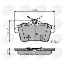 Комплект тормозных колодок, дисковый тормоз (Comline) CBP02045