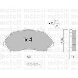 Комплект тормозных колодок, дисковый тормоз (Metelli) 2203870