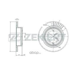 Тормозной диск (Zekkert) BS5036
