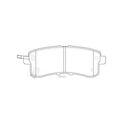 Колодки тормозные дисковые (FIT) FP1510