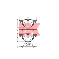 Комплект тормозных колодок, дисковый тормоз (Nk) 221526