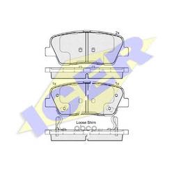Колодки тормозные дисковые, комплект (Icer) 181954