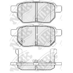 Колодки тормозные дисковые (NiBK) PN1519
