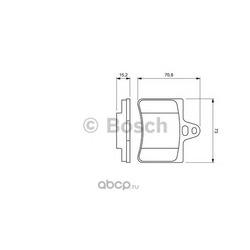 Колодки тормозные дисковые задние Bosch (Bosch) 0986424580