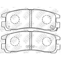 Колодки тормозные дисковые (NiBK) PN3174