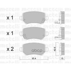 Комплект тормозных колодок, дисковый тормоз (Metelli) 2205420