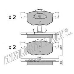 Комплект тормозных колодок (Trusting) 6250
