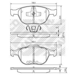 Комплект тормозных колодок, дисковый тормоз (Mapco) 6709