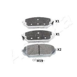 Комплект тормозных колодок, дисковый тормоз (Ashika) 500HH19