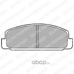 Колодки тормозные дисковые, комплект (Delphi) LP401