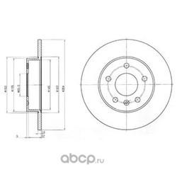 Диск тормозной вентилируемый|полный (Delphi) BG3406