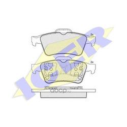 Комплект тормозных колодок, дисковый тормоз (Icer) 181433