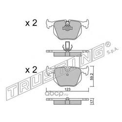 Комплект тормозных колодок, дисковый тормоз (Trusting) 5760