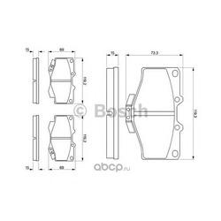 Комплект тормозных колодок, дисковый тормоз (Bosch) 0986424268