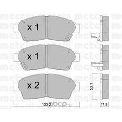 Колодки тормозные дисковые, комплект (Metelli) 2201490