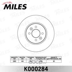 Диск тормозной RENAULT KANGOO 01-/LAGUNA 95-01/MEGANE 96-/SCENIC 99- перед.вент. (Miles) K000284