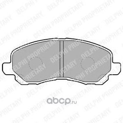 Комплект тормозных колодок, дисковый тормоз (Delphi) LP1684