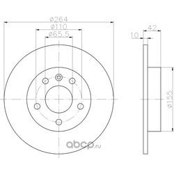 Тормозной диск (Hella) 8DD355106111