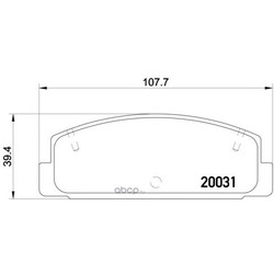 Колодки тормозные дисковые TEXTAR (Textar) 2003101