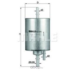 Топливный фильтр (Mahle/Knecht) KL570