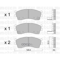Комплект тормозных колодок, дисковый тормоз (Metelli) 2205120