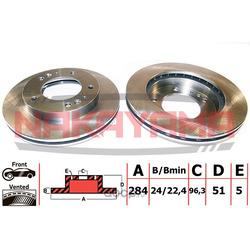Тормозной диск (NAKAYAMA) Q4145