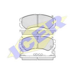 Комплект тормозных колодок, дисковый тормоз (Icer) 140990