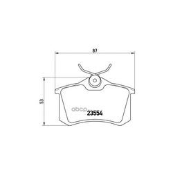 Комплект тормозных колодок, дисковый тормоз (Brembo) P85020
