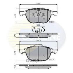 Комплект тормозных колодок, дисковый тормоз (Comline) CBP01323